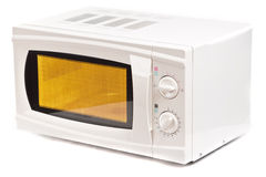 Microwave oven. Isolated on white stock image