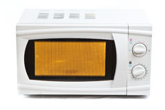 Microwave oven. Isolated on white royalty free stock images