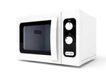 Microwave oven. On white background Royalty Free Stock Photo