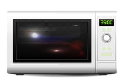 Microwave oven. Realistic illustration of the microwave oven Royalty Free Stock Images