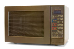 Microwave oven. On a white background stock photo