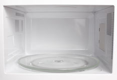Microwave oven inside view Stock Photos