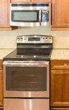 Microwave and Oven in New Kitchen Royalty Free Stock Image