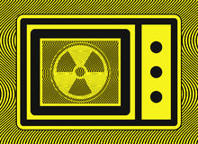 Microwave Oven Radiation Royalty Free Stock Photography