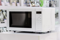 Microwave oven in retail store Stock Image