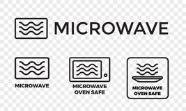 Microwave oven safe vector icon templates stock illustration