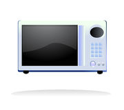 Microwave oven vector. Vector illustration of a microwave oven with keyboard and timer screen, related to electronics and kitchen Royalty Free Stock Photo