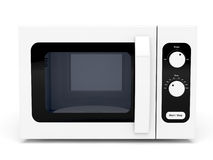 Microwave oven on white background Stock Photo