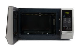 Microwave oven. On white background royalty free stock photography