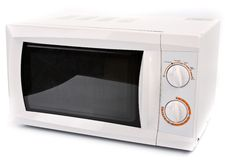 Microwave oven. White microwave oven  on white background Royalty Free Stock Photo