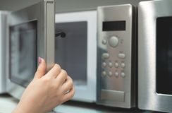 Microwave oven. royalty free stock photos