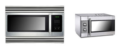 Microwave ovens isolated Royalty Free Stock Photography