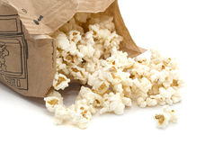 Microwave popcorn. Making popcorn in a microwave oven Stock Images