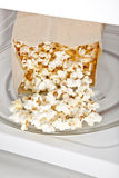 Microwave Popcorn Stock Photo