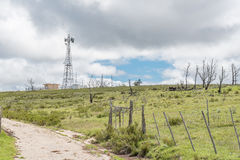 Microwave telecommunications tower Stock Photos