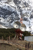 Microwave tower in the Caucasus Royalty Free Stock Photography