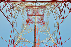Microwave tower. Telecommunication tower for Microwave signals Royalty Free Stock Image