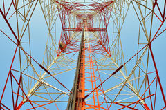 Microwave tower. Telecommunication tower for Microwave signals Stock Images