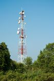 Microwave transmission tower 03 Royalty Free Stock Photography