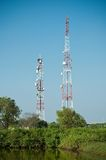 Microwave transmission tower 02 Royalty Free Stock Photo