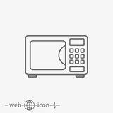 Microwave vector icon. On grey background Stock Photo