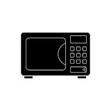 Microwave vector icon. On white background Stock Photos