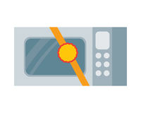 Microwave Vector Illustration in Flat Design Royalty Free Stock Photos