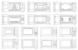 Free Microwave Vector Outline Set Icon.Isolated Outline Set Icon Microwave. Vector Illustration Oven On White Background. Stock Photo - 215816760