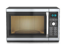 Microwave. View front Royalty Free Stock Photography