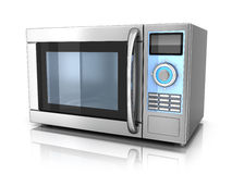 Microwave. On white background (done in 3d Royalty Free Stock Photos