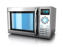 Microwave. On white background (done in 3d Stock Image