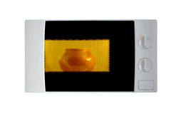 Microwave on white background Stock Image