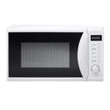 Microwave. White modern cooking kitchen royalty free stock photos