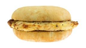 Microwaved зажарило сандвич куриной грудки Стоковые Изображения RF