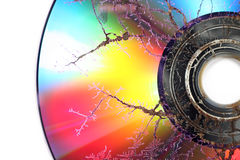 Microwaved CD-ROM Stock Photography