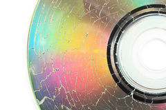 Microwaved CD-ROM Stock Photo