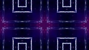Microworld ή νανο μπλε υπόβαθρο τεχνολογίας Άνευ ραφής περιτυλίχτηκε ζωτικότητα με τα μόρια πυράκτωσης Η αφηρημένη sci-Fi εικονικ απόθεμα βίντεο