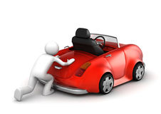 Microworld collection - Pushing failed car vector illustration