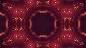 Microworld, mandala o fondo abstracto de neón ornamental Composición de oro simétrica compleja con las partículas del resplandor libre illustration