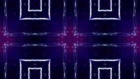 Microworld ou fond bleu de technologie nanoe Animation faite une boucle sans couture avec des particules de lueur La science fict banque de vidéos