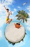 Microworld tropicale della spiaggia Fotografia Stock Libera da Diritti