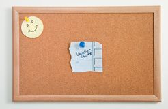 Mics Notes on Corkboard Stock Photography