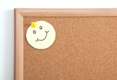 Mics Notes on Corkboard Stock Image