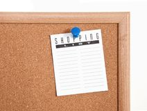 Mics Notes on Corkboard Royalty Free Stock Image