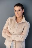 Mid-adult attractive woman royalty free stock images