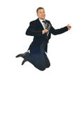 Mid adult business man jumping Stock Photos