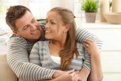 Mid-adult couple at home Royalty Free Stock Image