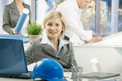 Mid-adult designer in architect office Stock Photos
