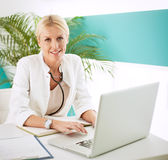 Mid Adult Female Doctor Stock Photos