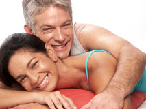 Mid adult love. Stock Images